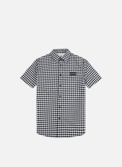 Outlet e Saldi Camicie a Manica Corta Calvin Klein Jeans Gin Gham Institutional Chest SS Shirt