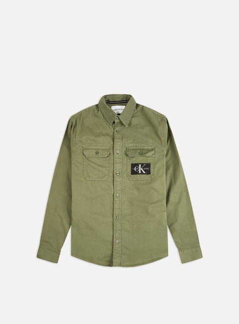Outlet e Saldi Camicie a Manica Lunga Calvin Klein Jeans GMD Utility Regular Shirt