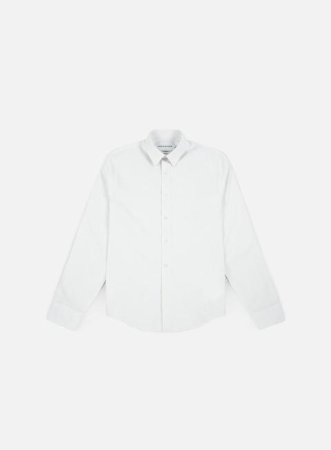 camicie calvin klein jeans logo slim strech ls shirt bright white