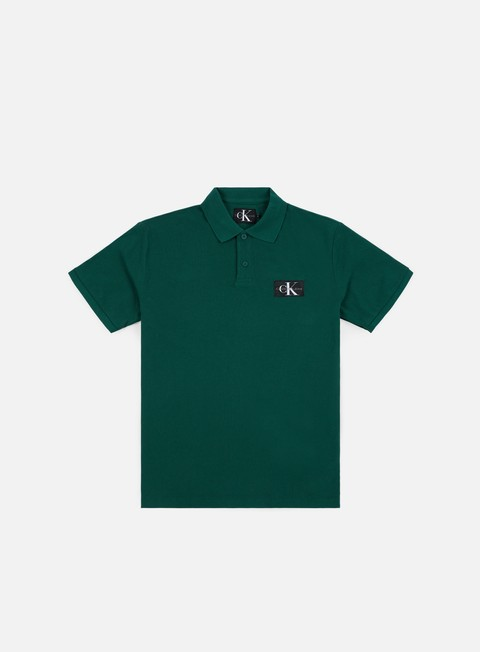 camicie calvin klein jeans monogram logo polo shirt june bug
