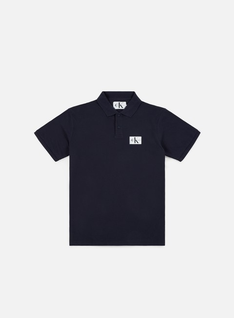 camicie calvin klein jeans monogram logo polo shirt night sky