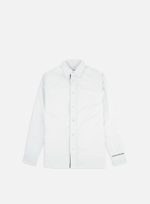 Outlet e Saldi Camicie a Manica Lunga Calvin Klein Jeans Monogram Tape Regular LS Shirt