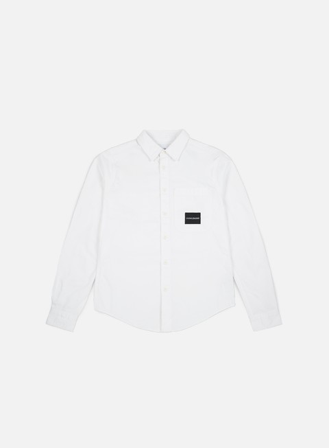 camicie calvin klein jeans one pocket ls shirt bright white