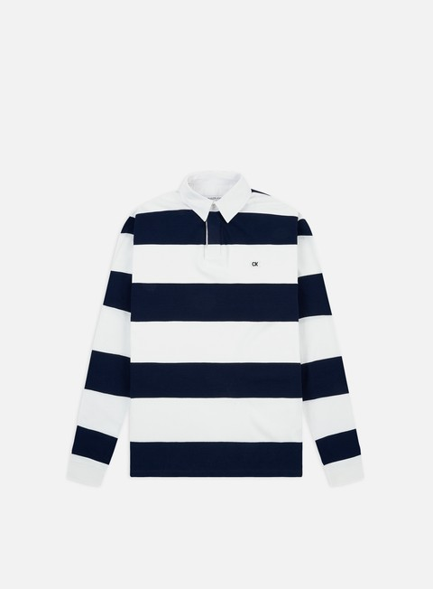 Outlet e Saldi Polo Calvin Klein Jeans Rugby Striped Regular LS Polo Shirt