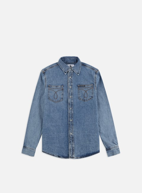 Outlet e Saldi Camicie a Manica Lunga Calvin Klein Jeans Utility LS Shirt