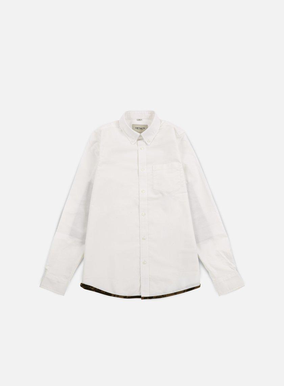 Carhartt - Buster LS Shirt, White/Camo