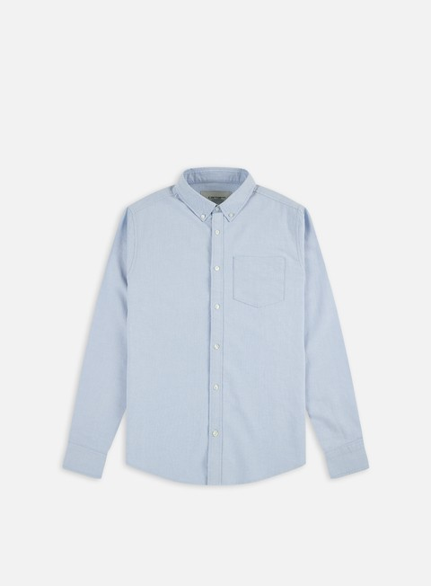 camicie carhartt button down pocket ls shirt bleach