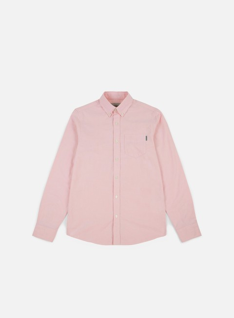camicie carhartt button down pocket ls shirt sandy rose