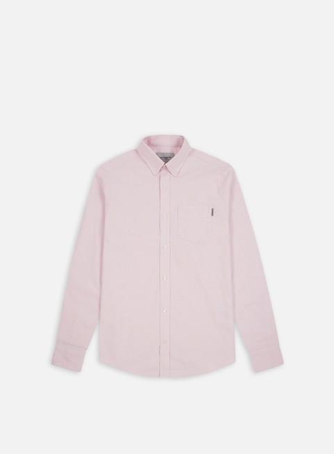 camicie carhartt button down pocket ls shirt soft rose