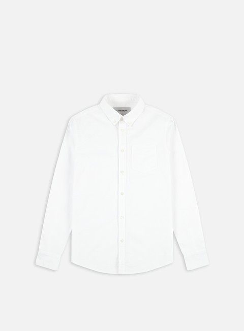camicie carhartt button down pocket ls shirt white