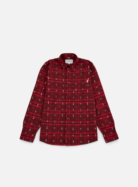 camicie carhartt carlos origin ls shirt chianti heather carlos check