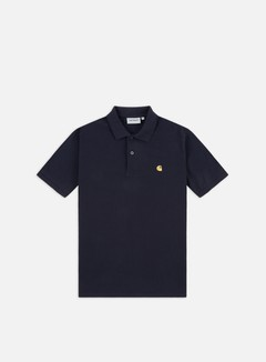 Carhartt - Chase Pique Polo Shirt, Dark Navy/Gold