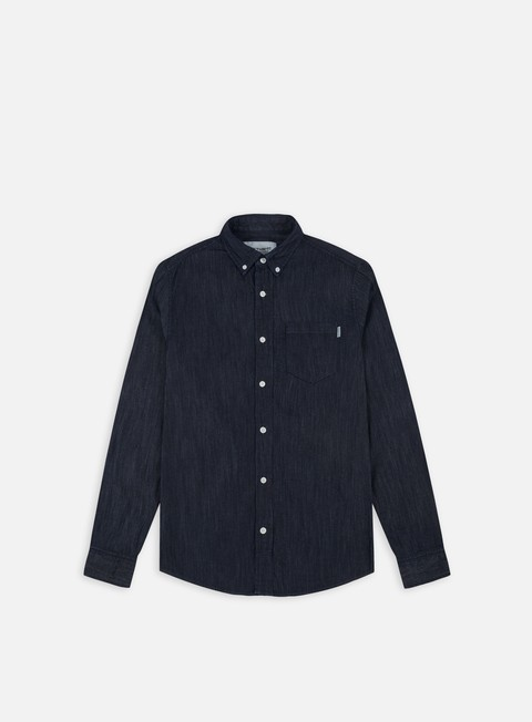 camicie carhartt civil ls shirt blue rinsed