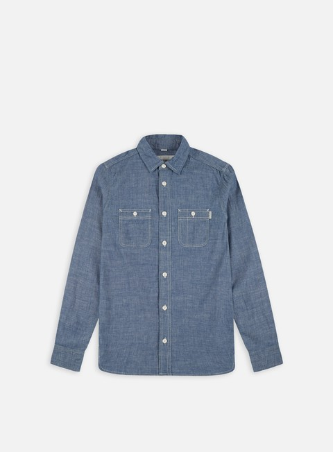 camicie carhartt clink ls shirt blue rinsed