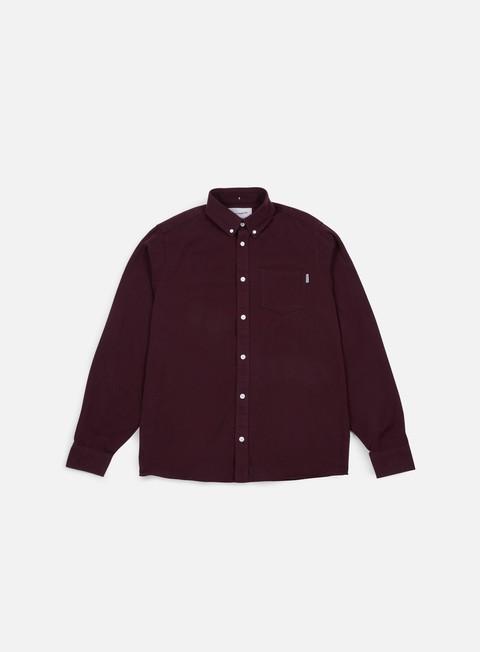 camicie carhartt dalton ls shirt amarone black