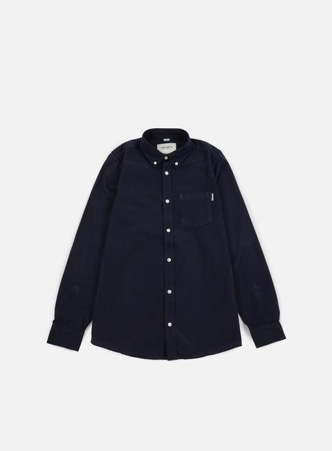 camicie carhartt dalton ls shirt blue black