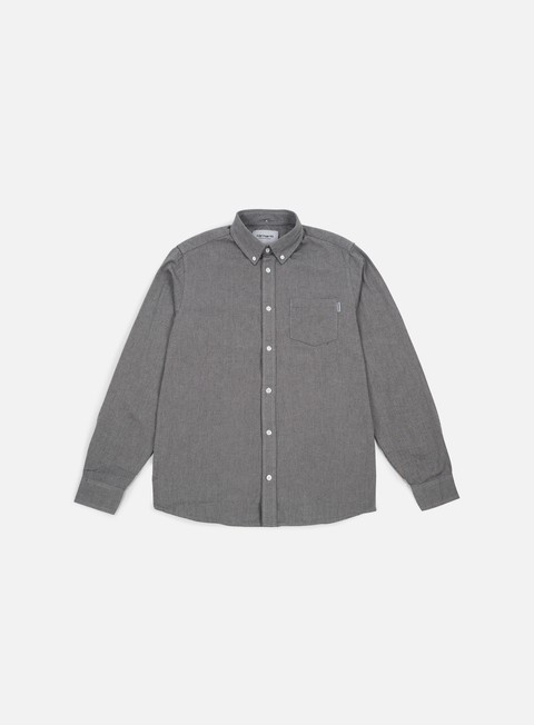 camicie carhartt dalton ls shirt grey heather black