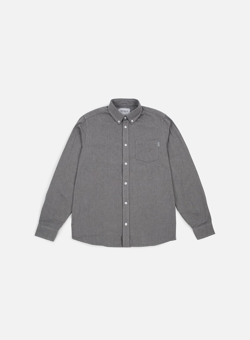 Carhartt - Dalton LS Shirt, Grey Heather/Black
