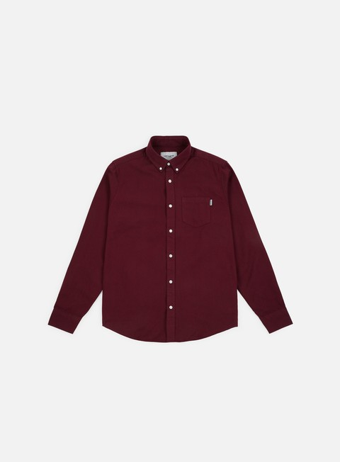 camicie carhartt dalton ls shirt mulberry dark navy