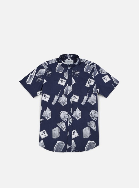 camicie carhartt flammable ss shirt blue white