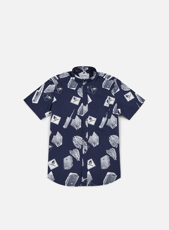 Carhartt - Flammable SS Shirt, Blue/White