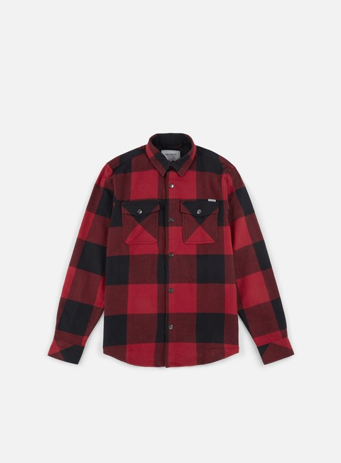 camicie carhartt graham ls shirt blast red
