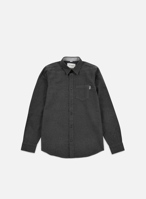 camicie carhartt griffith ls shirt black heather