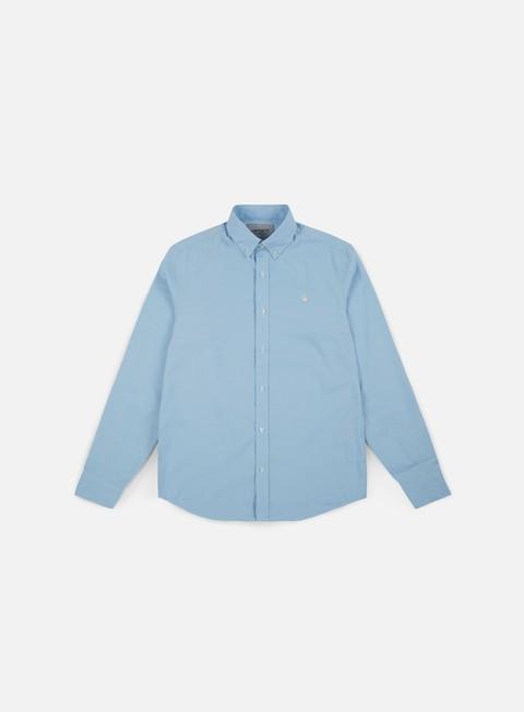 camicie carhartt lancaster logo ls shirt aquamarine wax