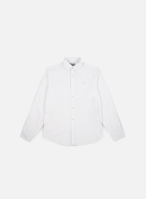 camicie carhartt lancaster logo ls shirt white white