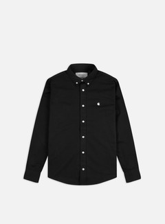 Carhartt - Madison LS Shirt, Black/Wax