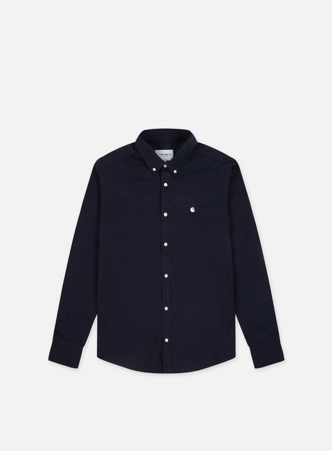 camicie carhartt madison ls shirt dark navy wax