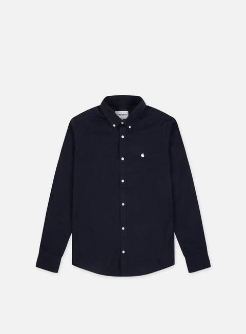 camicie carhartt madison ls shirt dark navy wax