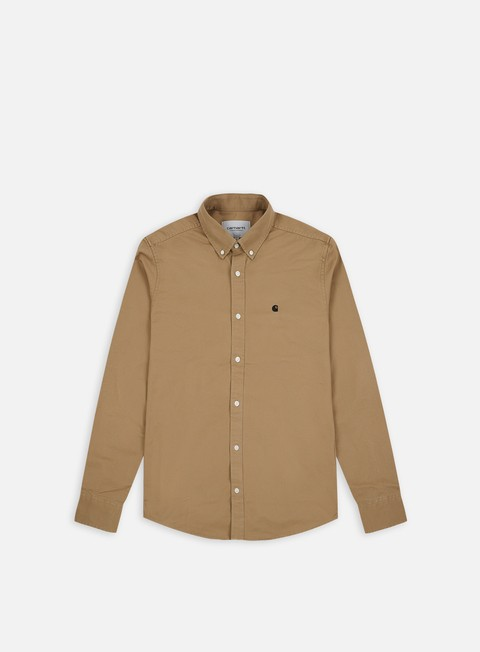 camicie carhartt madison ls shirt leather black