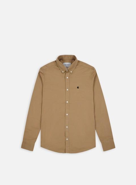 camicie carhartt madison ls shirt leather black