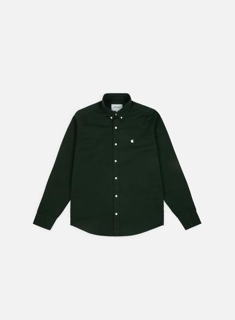 camicie carhartt madison ls shirt loden wax