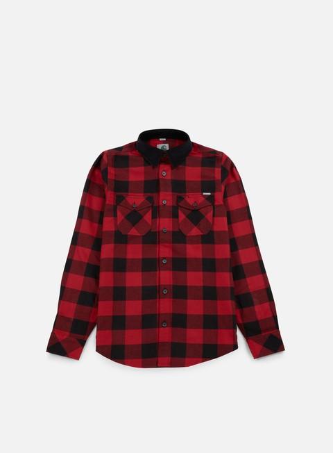 camicie carhartt marlon ls shirt blast red marlon check