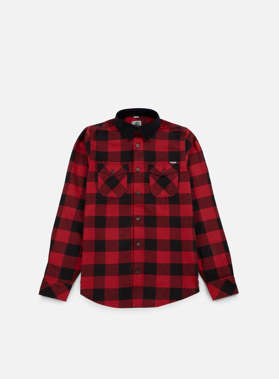 Carhartt - Marlon LS Shirt, Blast Red Marlon Check
