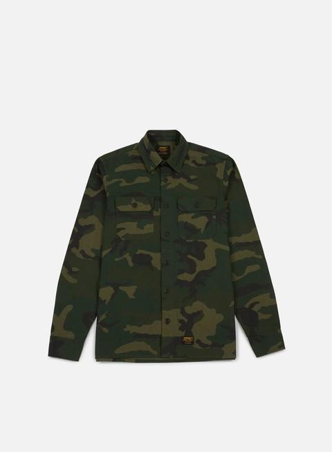 camicie carhartt mission ls shirt camo combat green