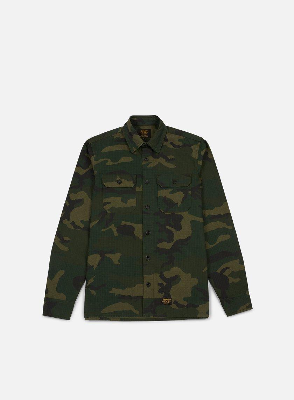 carhartt mission ls shirt camo combat green 69 30