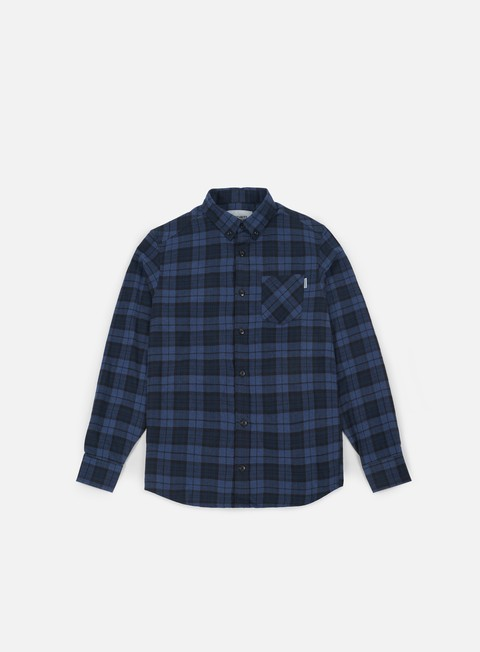 camicie carhartt norton ls shirt navy ink heather