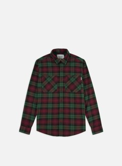 Carhartt - Pelkey Check LS Shirt, Chrome Green/Merlot