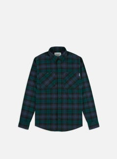 Carhartt - Pelkey Check LS Shirt, Dark Fir/Blue