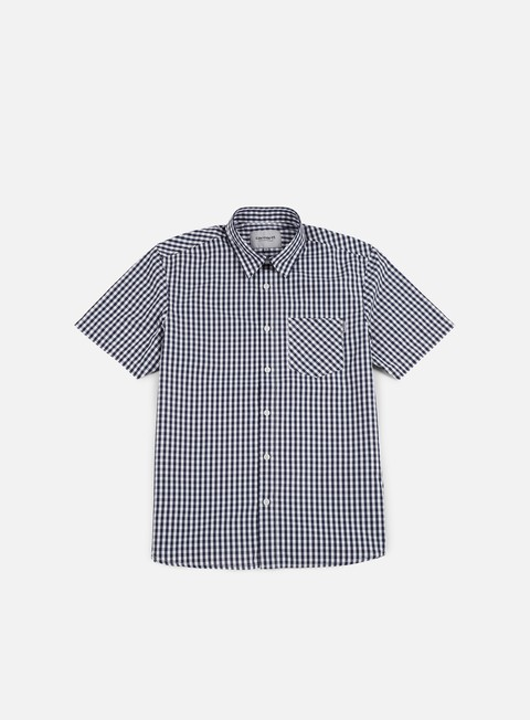 camicie carhartt preston ss shirt blue white