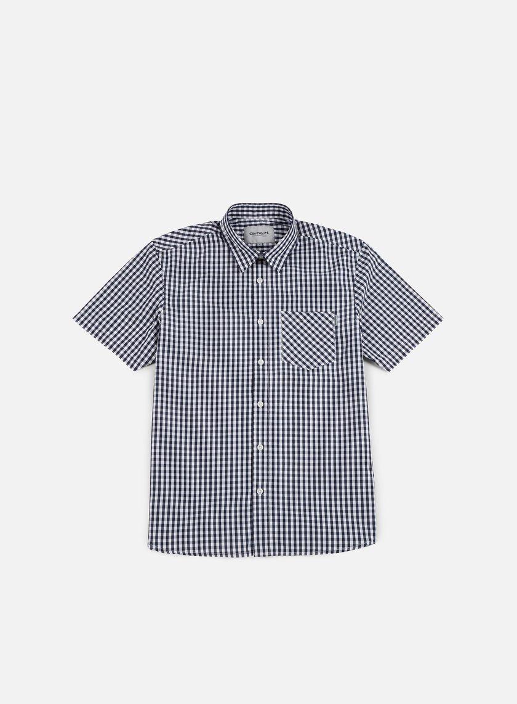 Carhartt - Preston SS Shirt, Blue/White
