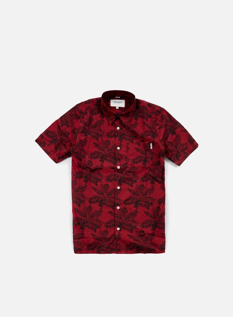 camicie carhartt ron ghetto palm ss shirt alabama dark navy