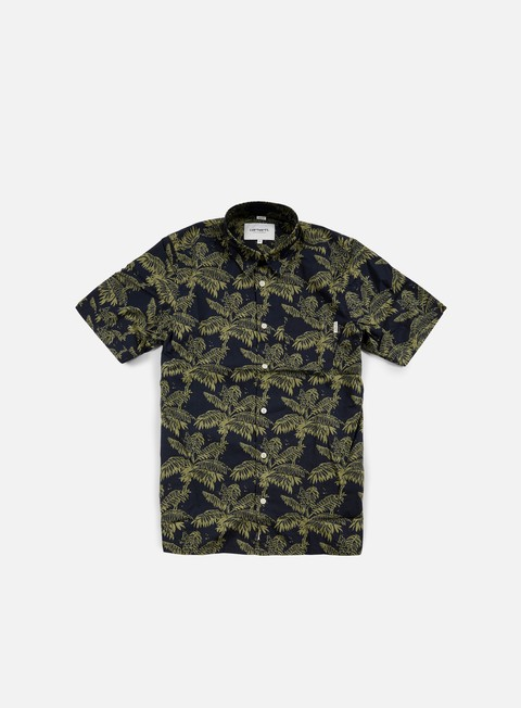 camicie carhartt ron ghetto palm ss shirt dark navy bog