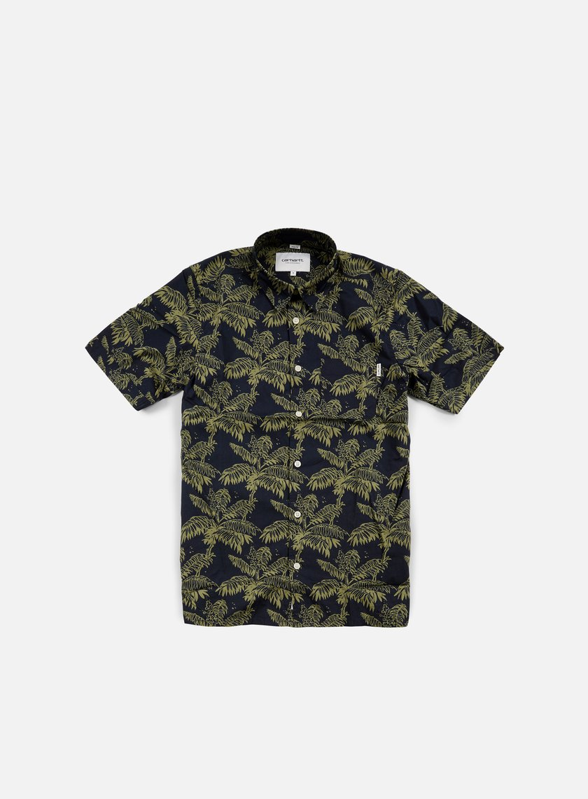Carhartt - Ron Ghetto Palm SS Shirt, Dark Navy/Bog