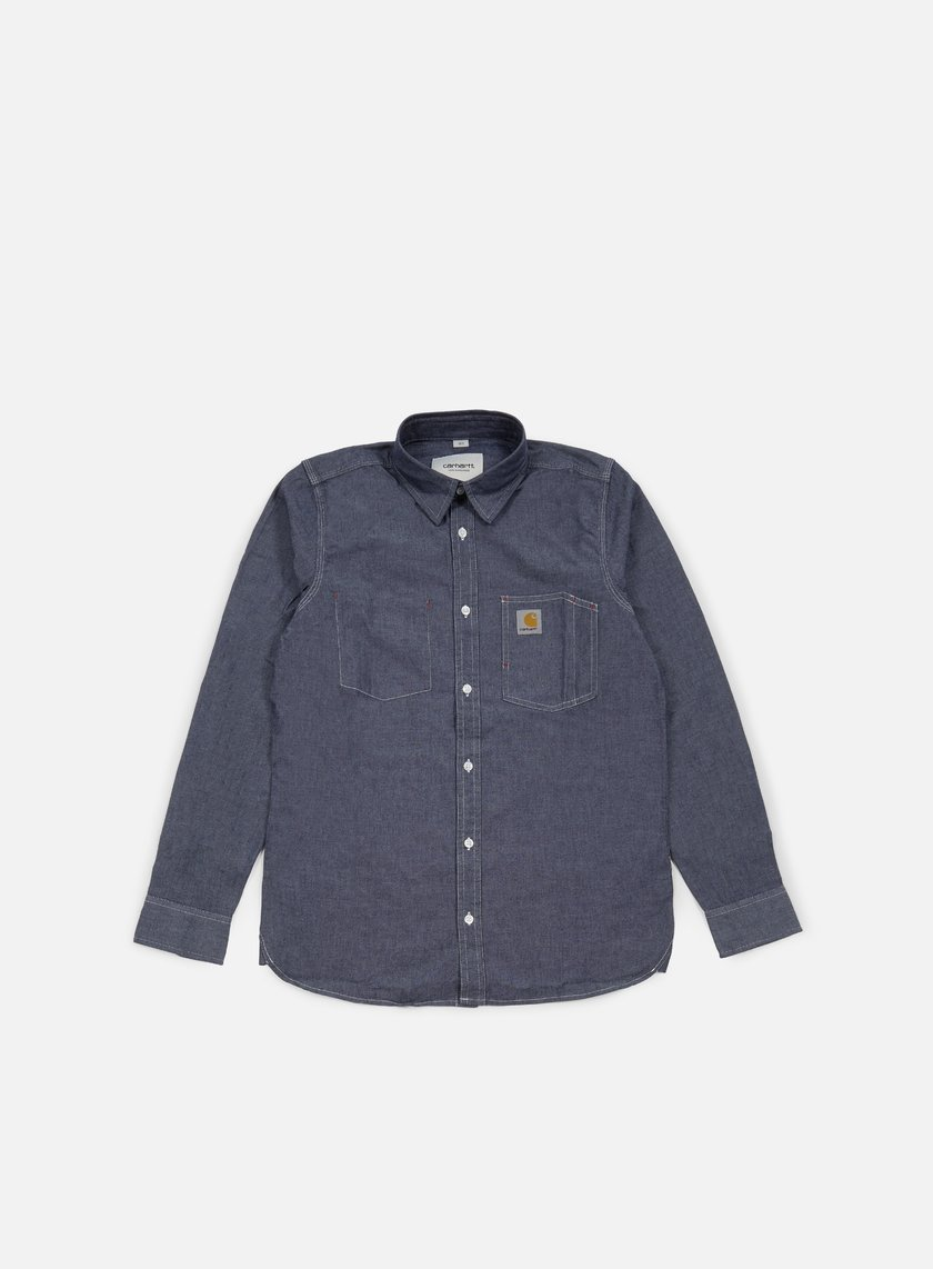 Carhartt - State LS Shirt, Blue Rinsed