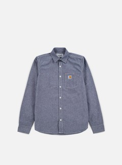 Carhartt - State LS Shirt, Blue Rinsed 1