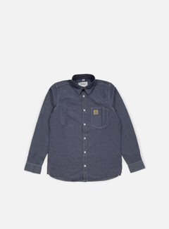 Carhartt - State LS Shirt, Dark Blue Rinsed 1